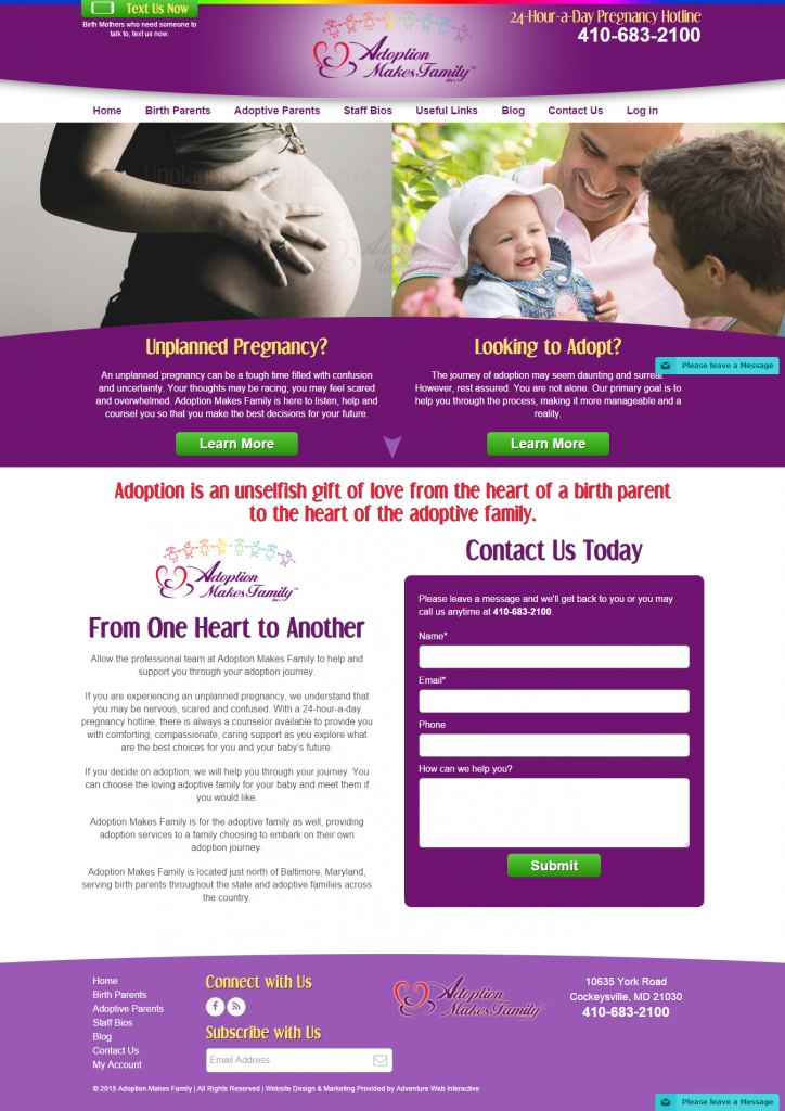 adoption makes family, new website launch