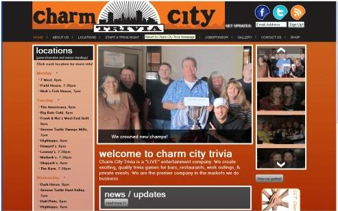 Adventure Web Productions has recently launched Charm City Trivia's new live site!