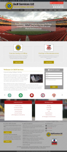 g&m services website design