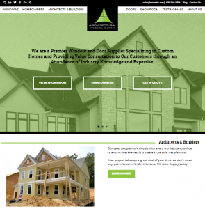 Adventure Web Presents a Fresh Site for Architectural Window Supply!