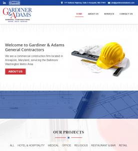 New Website Launch: Gardiner & Adams General Contractors