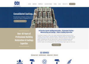 consolidated coatings adventure web interactive baltimore clients